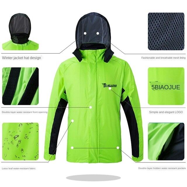 Motorcycle Raincoat Male Riding Split Waterproof Storm Rain Coat Pants Set  Jacket Rainwear Capa De Chuva Motoqueiro Gift Ideas 2