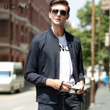 UCAK Brand 2020 New Fashion Style Casual Jacket Streetwear Polyester Chaquetas Hombre  Plaid Zipper Pockets Jackets Men U8057
