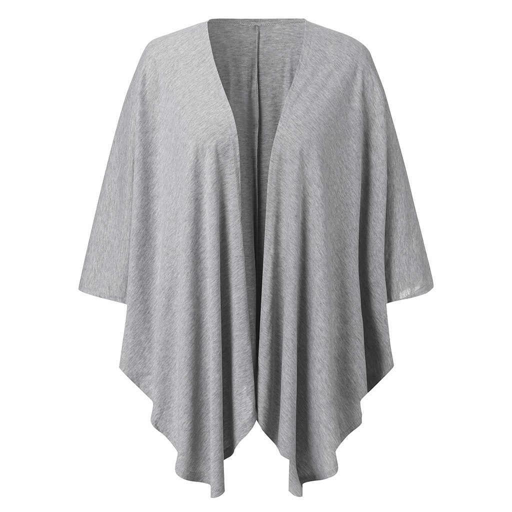 Uzun kollu Batwing kollu t-shirt kadın bahar sonbahar moda hırka açık dikiş V yaka Casual Harajuku uzun tee çalışma Streetwear