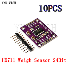 10 adet HX711 tartı sensörü 24bit A/D dönüşüm adaptörü yük hücresi kurulu ağırlık sensörleri basınç sensörü DIY elektronik tartı