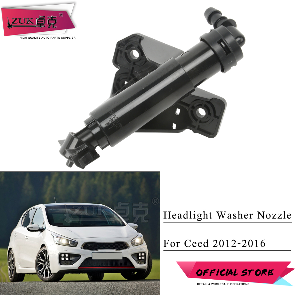 ZUK Headlight <font><b>Washer</b></font> Nozzle <font><b>Headlamp</b></font> Water Spray Jet Cylinder <font><b>Pump</b></font> Actuator For KIA Ceed Cee`D 2012-2016 Sorento 2015-2018 image