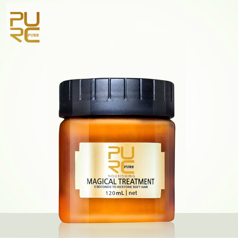 PURC 120ml Keratin Hair Treatment Mask 5 Seconds Repairs Damage Hair Root Nutrition Soft Baking Oil Restore Soft Hair Mask TSLM1