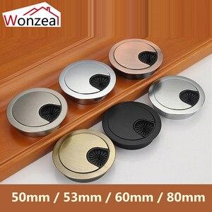 Wonzeal крышка провода стола из цинкового сплава, основание отверстия компьютерного кабеля, выход порта, поверхность линии коробки, мебельная ...