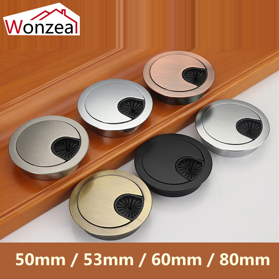 80mm Computer Desk Grommet Table Cable Outlet Ports Surface Wire Hole Cover
