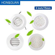 Hon& Guan 3 дюйма 75 мм вентиляционное отверстие ABS жалюзи белая решетка крышка Регулируемая вытяжная вентиляция подходит для ванной офиса кухни вентиляции