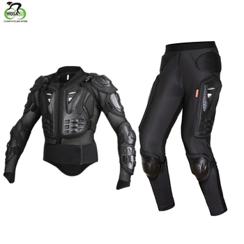WOSAWE Full Body Protector Back Support Shockproof EVA Breathable Snowboard Motorcycle Moto Riding Spine Shoulder Protection