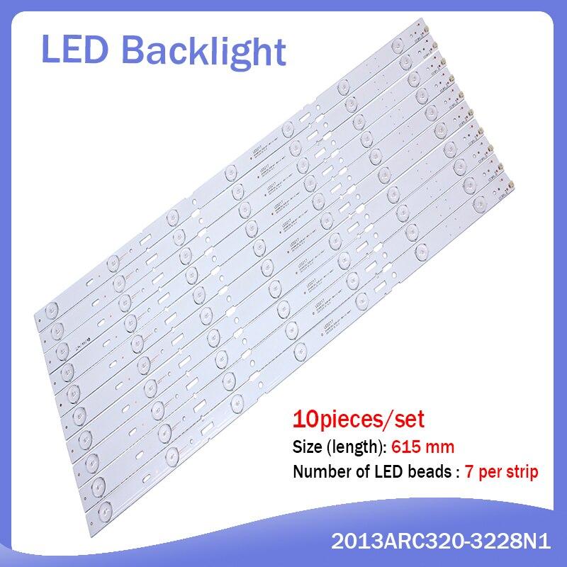 New Kit 8 PCS 5LED 428mm LED strip for SAMSUNG 40VLE4421BF 2013ARC40 3228N1 05