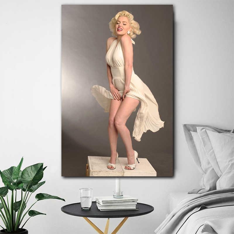 Marilyn Monroe Pittura Della Tela di canapa Della Signora Delle Donne Sexy Poster Arte Della Parete Immagini Per Soggiorno camera Da Letto Moderna Complementi Arredo Casa NO FRAME