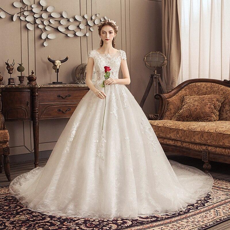 Vestidos デ · ノビアキャップスリーブレースのウェディングドレス 2019 Alibaba のカスタムメイドのヴィンテージ花嫁新しいファッションローブ · デのみ |