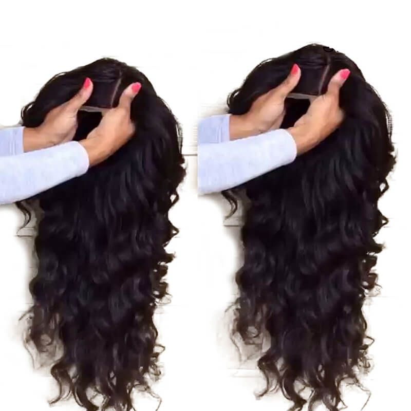Silk Base Full Lace Wig Human Hair With Baby Hair Pre Plucked Silk Top Lace Wig Natural Hairline Glueless Virgin Human Hair Wig