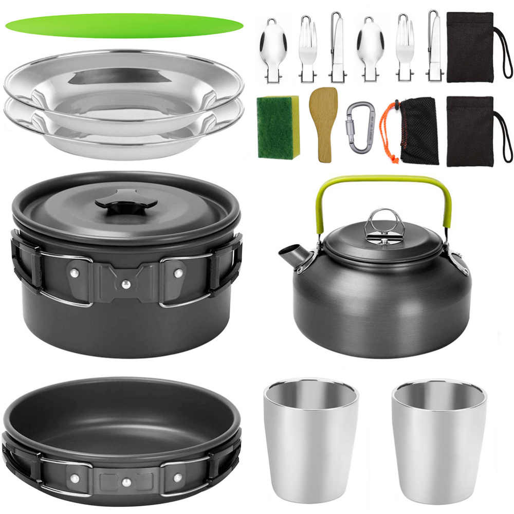 1 Set of Camping Cookware Camping Tool BBQ Accessories for Camping