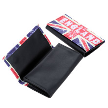 1Pc Portable Pocket Size PU Leather Tobacco Pouch Random Patterns Paper Smoking Cigarettte Bag