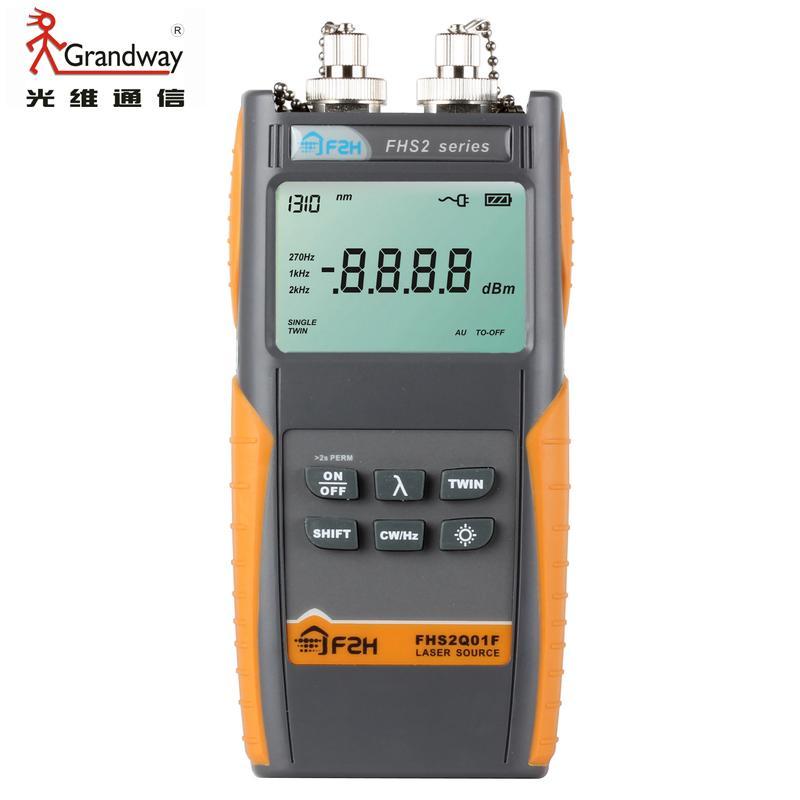 Source de lumière optique Grandway FHS2Q02F 1310/1490/1550/1625nm avec connecteur FC/PC,-5dbm