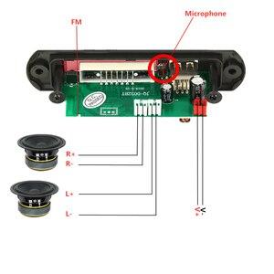 Image 3 - 2*3 ワットアンプ bluetooth 5.0 MP3 プレーヤーデコーダボード 5 v 12 12v 車の fm ラジオモジュールサポート fm tf usb aux ハンズフリー通話記録