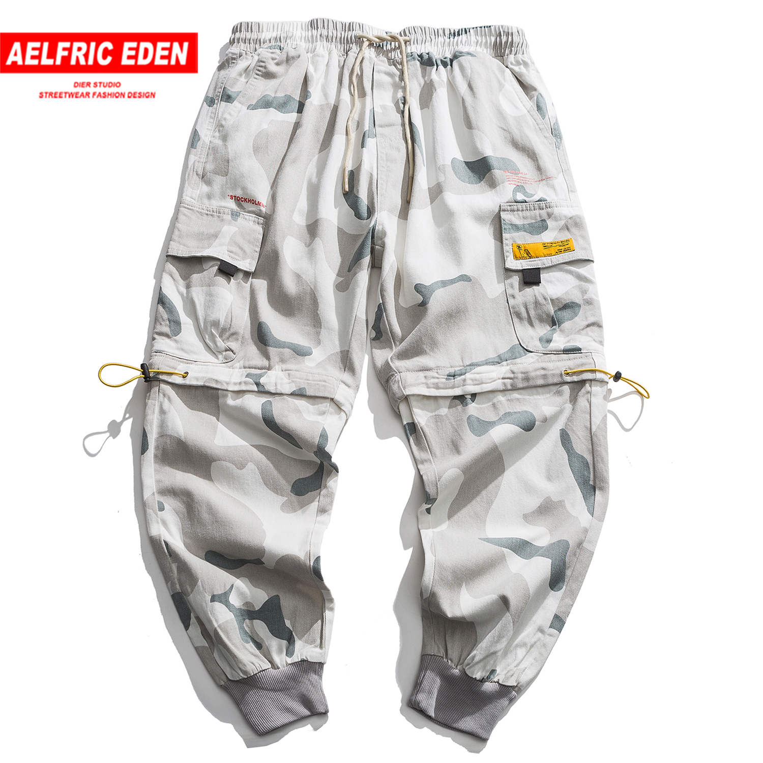 Aelfric Eden Casual Jeans Multi Pockets Patchwork Fashion Streetwear Loose Cargo Pants Harajuku Oversized Trousers Men Joggers
