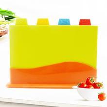 4 шт цветные разделочные доски набор кухонный нескользящий разделочный блок с держателем