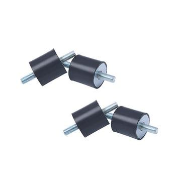 4 Uds M6x14 soportes de goma masculinos Anti Vibración bloque silencioso bobinas de barco de coche para compresores de aire motores bombas de agua etc