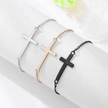 2019 charm cross cross chain bracelet fashion jewelry pulseras mujer women's bracelet stylish cross velvet charm bracelet