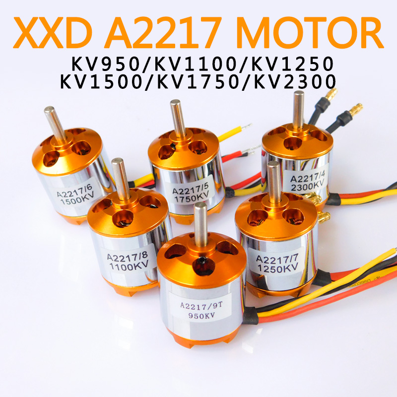 New XXD A2217 <font><b>2217</b></font> 950KV 1250KV 1500KV 2300KV Outrunner Brushless <font><b>Motor</b></font> For RC Airplane Aircraft Plane Quadrocopter Multi-copter image