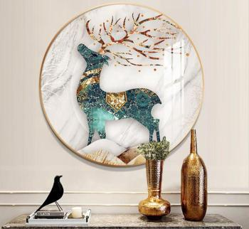 31.5 40 50CM Gold Black Aluminum Wall Photo Frames Round Wall Decoration Frame For Living Room Glass Picture Frames Wall Decor 1