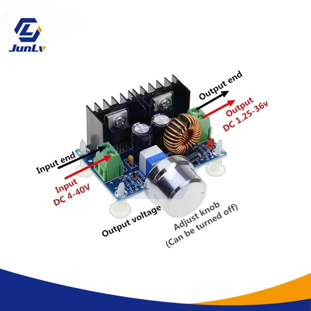 Rocker Power Converter, Power Supply Module, XL4016E1, Adjustable PWM 4-40V to XH-M401 / DC-DC / 36V, Control Panel 8a 1.25 W