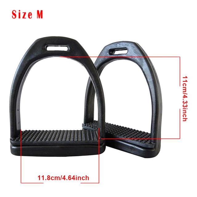 2PCS Children - Adults Durable Horse Riding Stirrups - 2 Sizes - Lightweight Wide Track Anti Slip  6