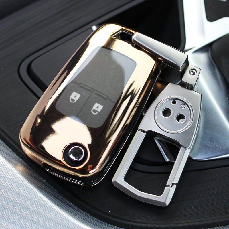 ABS For Chevrolet Cruze Trax Buick Excelle GT XT Regal GL8 ABS Car Key Shell Case Cover Holder Keyring Key Ring Chain Buckle