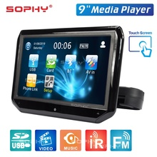 Monitor-Seat Car-Headrest Touch-Screen Auto Video-Player 9inch Fm/bluetooth LED Speakers