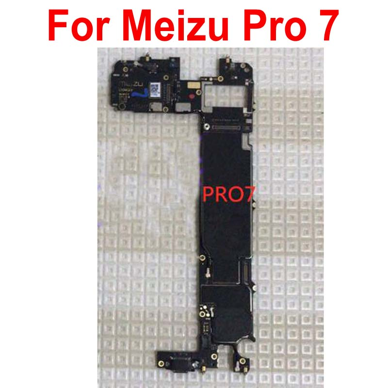 Original Unlock Test Working Electronic Panel Mainboard For Meizu Pro7 Pro 7 Motherboard Card Fee Circuits Flex Cable
