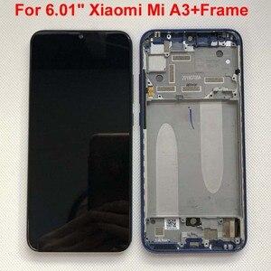 "Image 3 - Tela lcd amoled para xiaomi, teste de impressão digital para xiaomi 6.01 "", tela lcd para xiaomi mi a3 1906f9 + painel touch digitalizador xiaomi mi cc9e"
