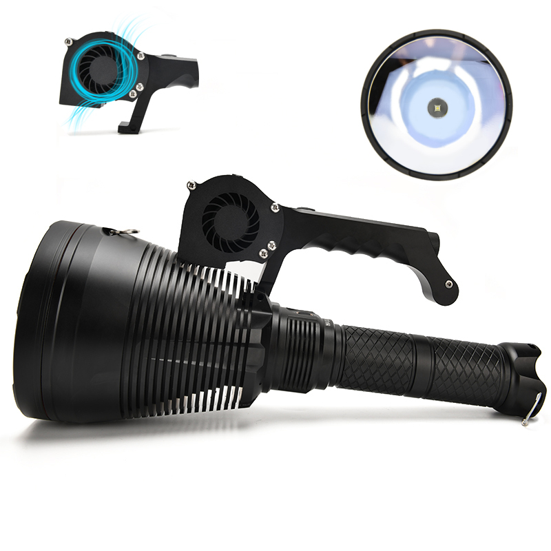 Astrolux MF05 SBT90.2 7500LM 2,500,000CD Powerful 18650 Flashlight with Cooling Fan 3162m