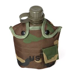 Outdoor Emergency Kits Portable Water Bottle Camouflage Drinking Kettle Water Tea For Hiking Camping Cycling Water Kettles