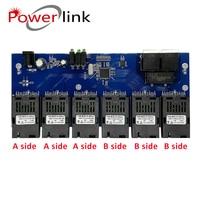 2 RJ45 6 155M SC fiber Port Fast Ethernet switch Converter 20KM Ethernet Fiber Optical Media Converter 10/100M PCBA 4.8
