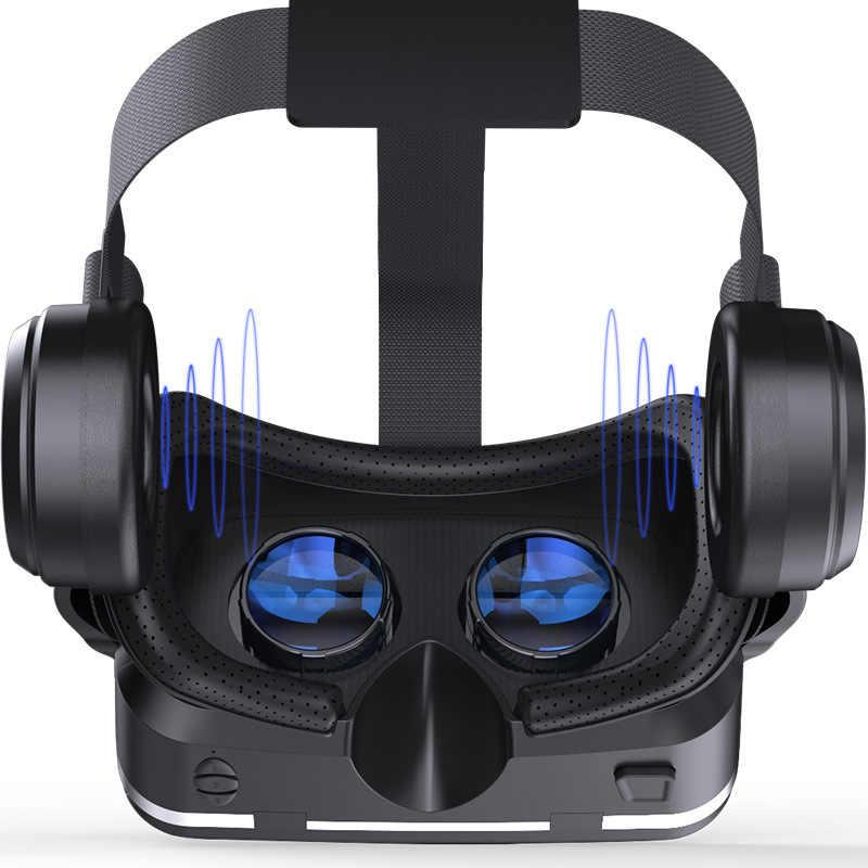 Shinecon 6.0 3D VR Kacamata dengan Gamepad Virtual Reality Casque 3 D Kacamata Headset Helm Kotak untuk iPhone Android Controller