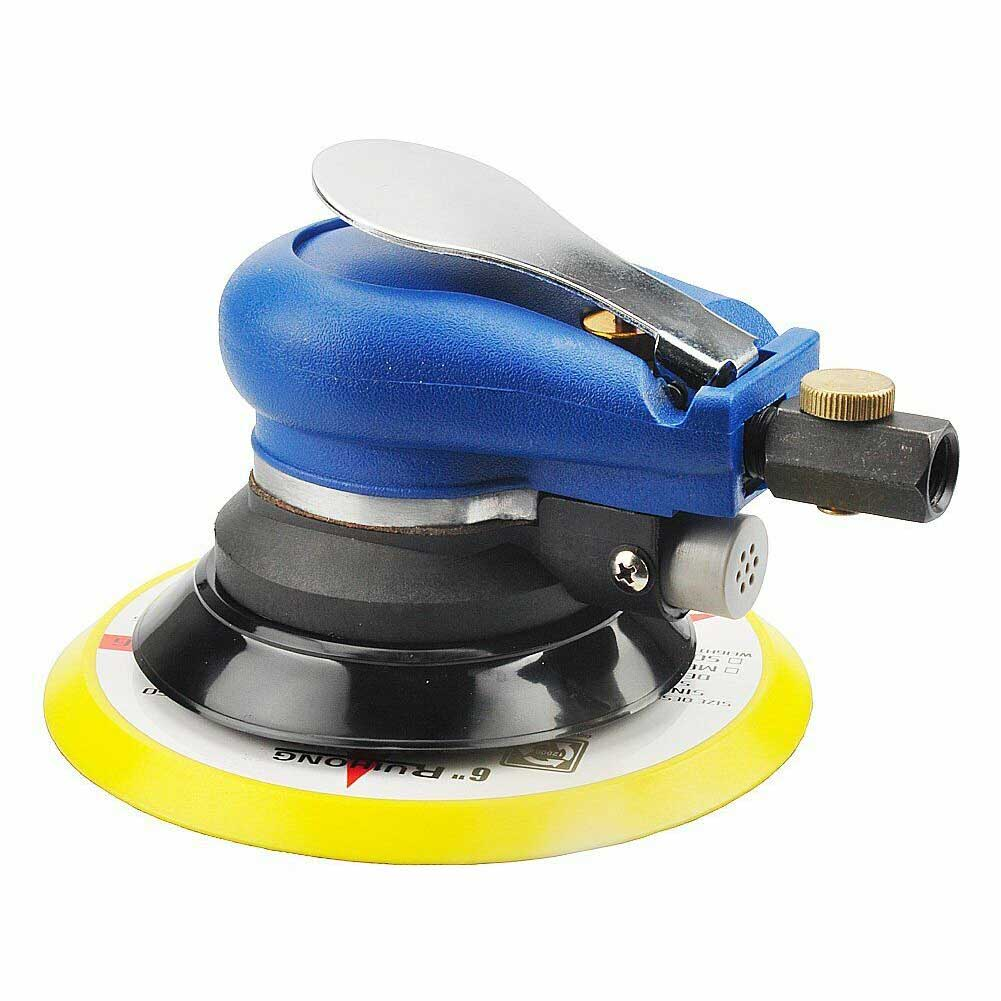 6 Inch Home Mini DIY Air Sander Grinding Tool Machine Pneumatic Polishing Aluminum Portable Professional Adjustable High Speed