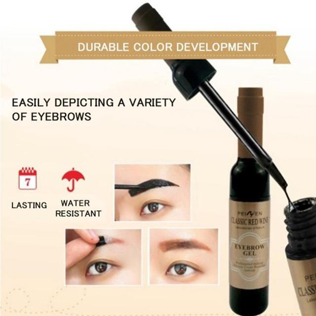 1Pcs Eyebrow Tattoo Gel Black Coffee Gray Peel Off Eye Brow Shadow Eyebrow Gel Makeup for Women High Pigmented Makeup 3