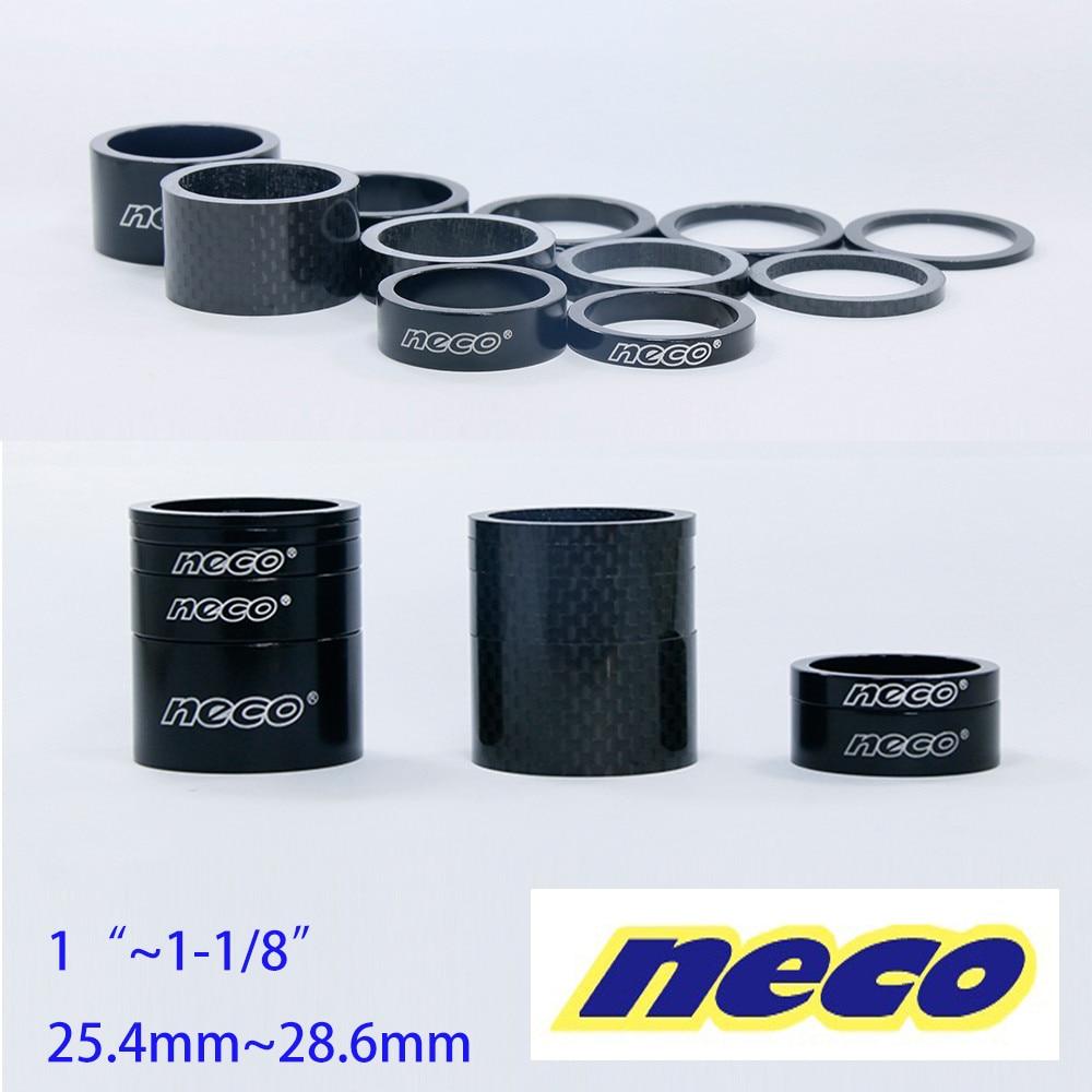 Велосипедная вилка Neco 1,125/1 дюйм 25,4/28,6 мм 20/10/5/3/2 мм, гарнитура из углеродного волокна, вилка для регулировки защиты от пыли, разделительная ша...