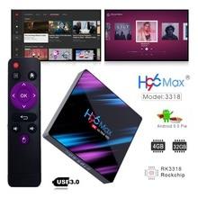 Smart-Tv-Box H96MAX Voice-Assistant Youtube Max-Rk3318 3D Tv-Box Android-Box Wifi Google Play Max-Rockchip Bluetooth-4.0 64GB цена 2017