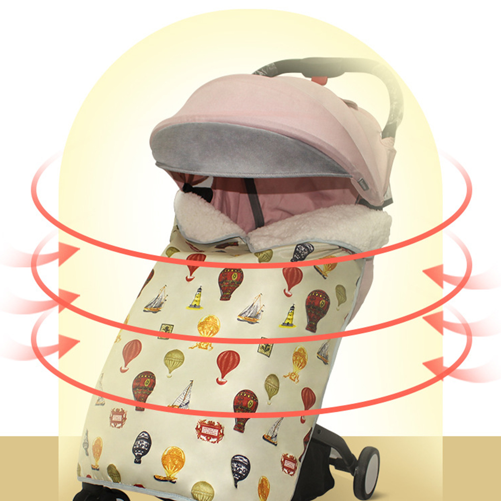 Foot Muff Blanket Rainproof Warm Unisex Accessories Winter Stroller Cover Plush Carrier Waterproof Cartoon Print Baby Windproof
