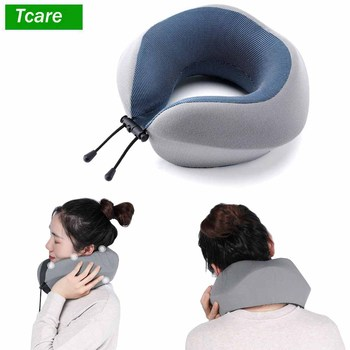 1Pcs Memory Foam Neck Brace & Cervical Pillow Travel Pillow for Airplane Car Office Pillows Flight Head Chin Support Cushion фото