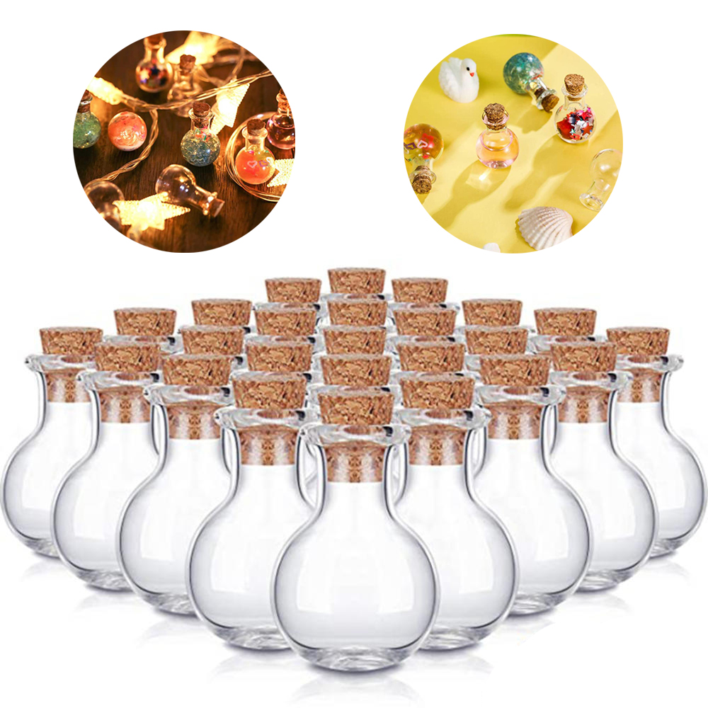 Frugal 10 Pcs Mini Glass Bottles Clear Drifting Bottles Small Wishing Bottles With Cork Stoppers For Wedding Birthday Party Diy Crafts Clearance Price