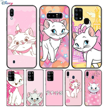 Cartoon Pink Marie Cat For Samsung Galaxy Note 20 10 9 8 Plus Ultra Lite M31 M31S M10 M20 M02 M30 M40 Soft Phone Case