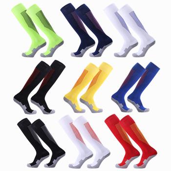 Zawodowe dorosłych sport piłka nożna skarpety narciarskie męskie lekkie narciarskie termiczne długie skarpetki na świeżym powietrzu mężczyzna jazda na rowerze bieganie piłka nożna pończochy tanie i dobre opinie SHINESTONE Soccer Socks As Shown 1 pair Comfortable Breathable 22x45cm Adult LG C1
