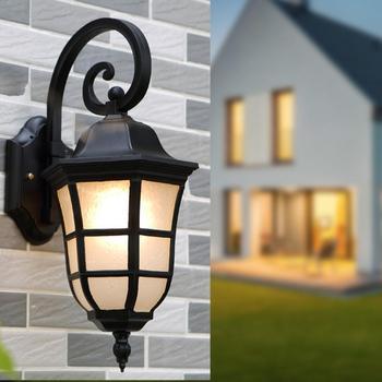 AC 110-240V Retro LED Wall Light E27 Base IP65 Waterproof Sconce Lamp For Bar Cafe Garden Light