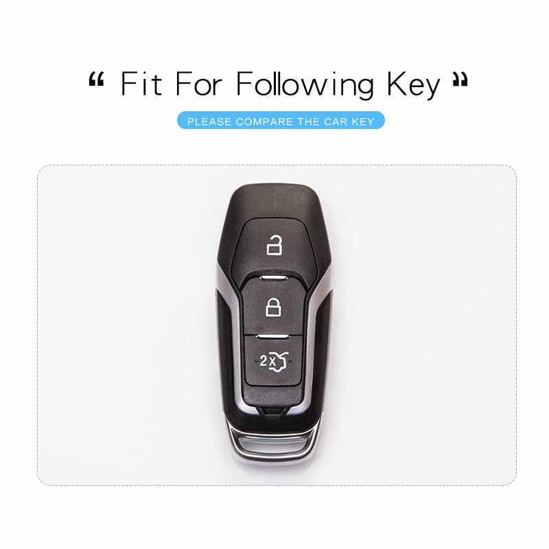 بولي Protection حماية سيارة حقيبة غطاء للمفاتيح لفورد مونديو Mk4 MK3 MK5 الحارس S C ماكس اكسبلورر 5 فييستا ST F15 مفتاح سلسلة حلقة اكسسوارات