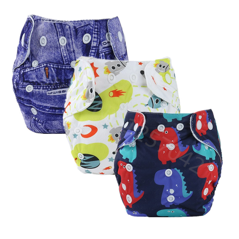 New Baby Cloth Diaper Reusable Baby Nappies Diapers Adjustable Washable Cloth Diaper Pocket Waterproof