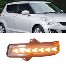 Dynamische Led Richtingaanwijzer Side Wing Achteruitkijkspiegel Sequentiële Blinker Lamp 2 Stuks Voor Suzuki Swift 2014 2015 2016 2017