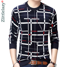 2020 New Designer Pullover Plaid Men Sweater Mens Thick Winter Warm Jersey Knitted Sweaters Mens Wear Slim Fit Knitwear 53012