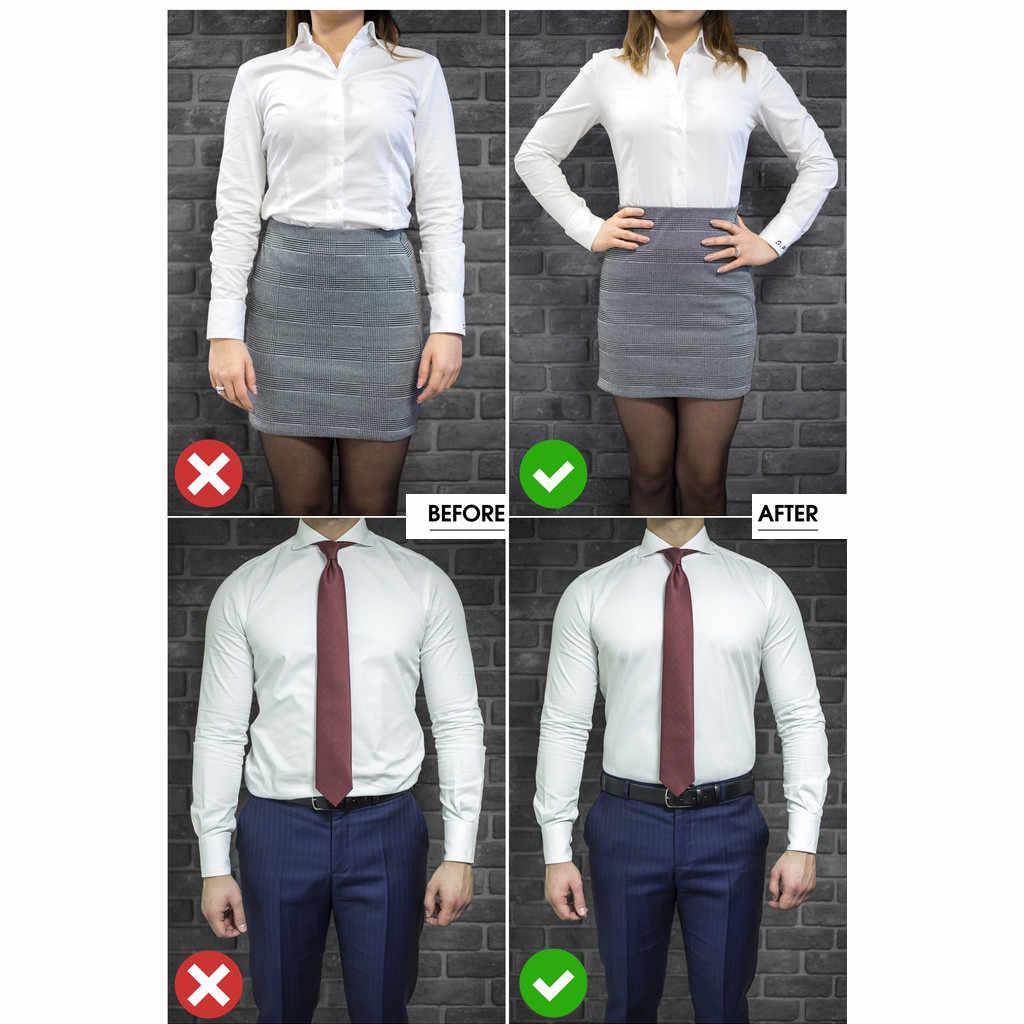 Регулируемый рядом рубашка-оставайтесь Лучший Рубашка Остается черный галстук держать вашу рубашку в плотно прилегает к вашему телу Это рубашка с поясом TuckedMen