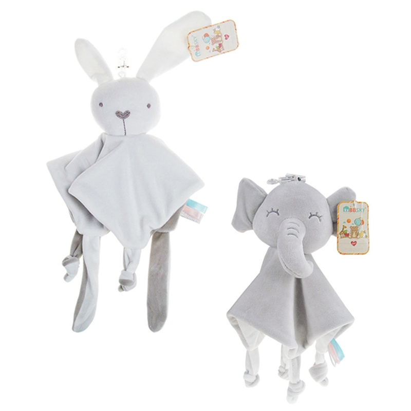 Baby Comforter Blanket Soothing Towel Newborn Security Blankets Soft Bunny Rabbit Doll Baby Toys Handkerchief 0-12 Months